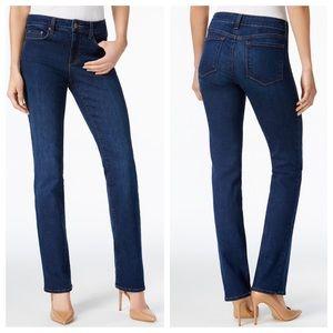 NYDJ Tummy Tuck Straight Leg Blue Jeans sz 8